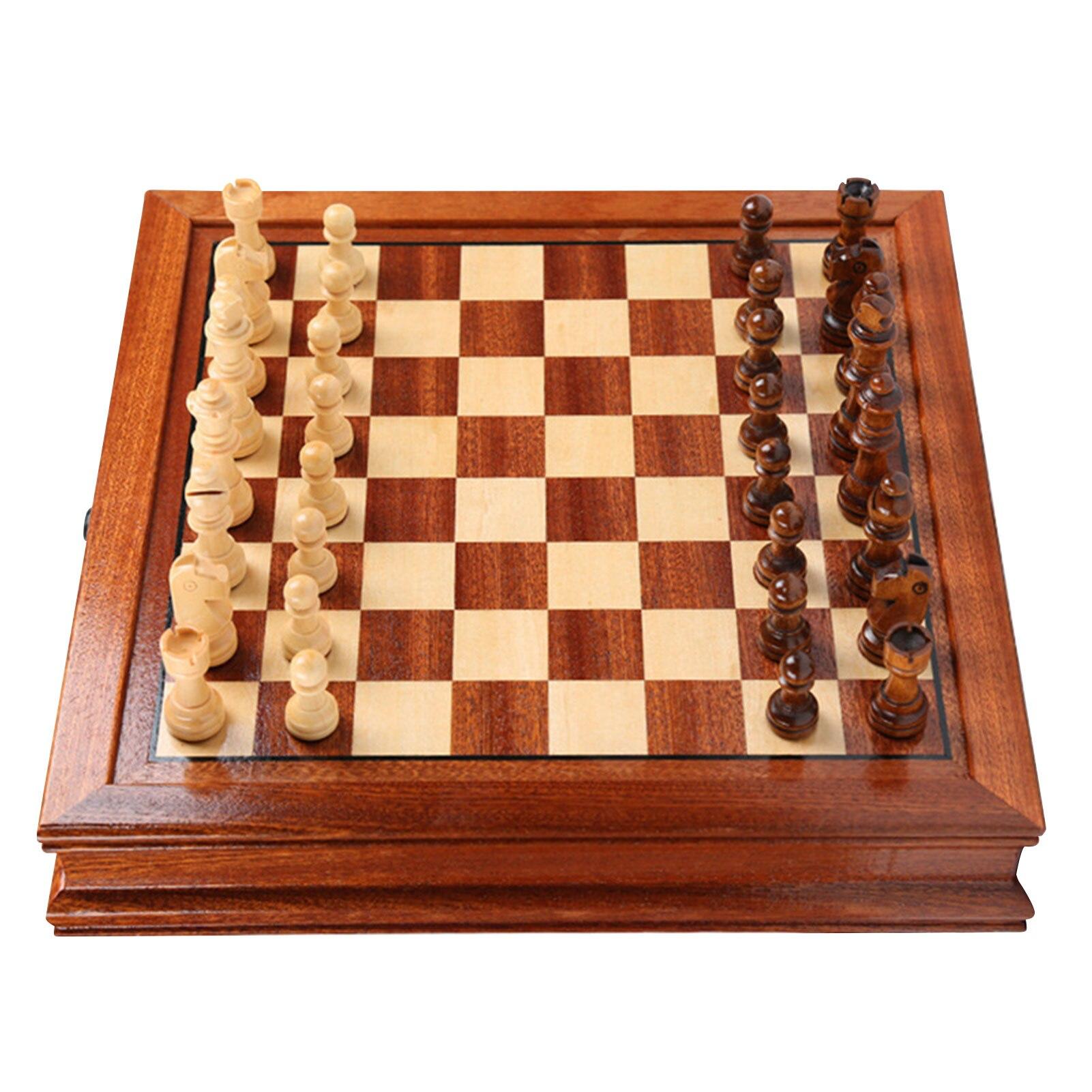 Pezzi degli scacchi tavolino in legno scacchiera professionale gioco per famiglie Set di scacchi tavolo da gioco tradizionale Set di scacchi 2021