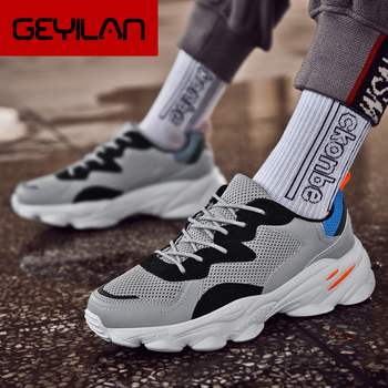 Brand Sneakers Man Sport Shoes Comfortable Leisure Mens Shoes Mesh Light High Quality Male Zapatillas Hombre size 39-46