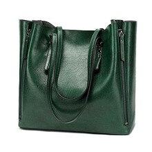 Сумка на одно плечо женская из экокожи, модный саквояж большой вместимости, однотонный Повседневный роскошный чемоданчик