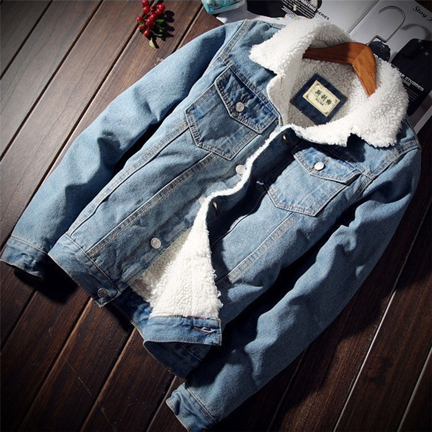 Denim Jackets For Girls Female Jacket Plush Coat Women Autumn Winter Denim Upset Jacket Vintage Long Sleeve Loose Jeans Coat 1