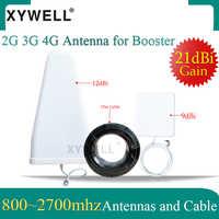 XYWELL 21dBi 4G Antenne 800 ~ 2700mhz LPDA antenna Esterna del Pannello Antenna interna 15 metri di cavo per 2G 3G 4G Mobile Del Segnale Del Ripetitore