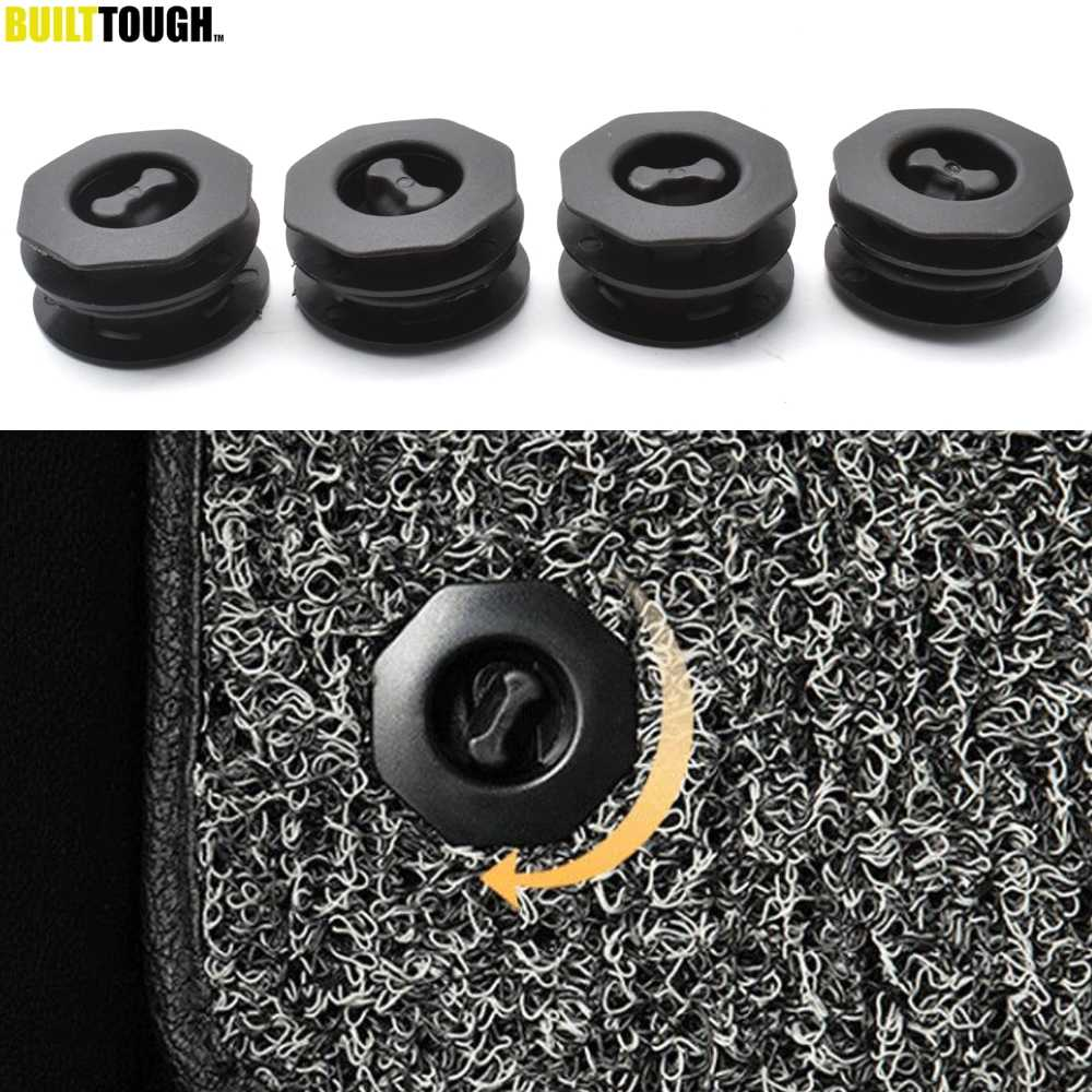 4pcs Universal Car Floor Mat Anti-Slip Clips Auto Carpet Fixing Grips Clamps Holders Sleeves Retention Retainer Styling Tools