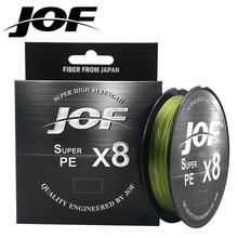 JOF 8 плетеная рыболовная леска 150 м 300 м 500 м, 8 нитей, многонитевая полиэтиленовая леска 15 20 30 40 50 60 80 100 фунтов