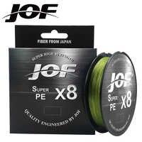 JOF 8 tisse ligne de pêche 150M 300M 500M 8 brins tressé ligne de pêche Multifilament PE ligne 15 20 30 40 50 60 80 100LB