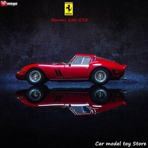 Bburago 1:24 Ferrari 250gto коллекция авторизованный производитель моделирования сплава Модель автомобиля ремесла Коллекция игрушек инструменты