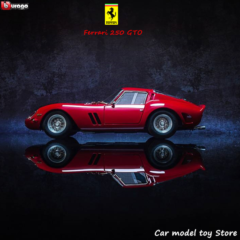Bburago 1:24 Ferrari 250gto Collection Manufacturer Authorized Simulation Alloy Car Model Crafts Decoration Collection Toy Tools