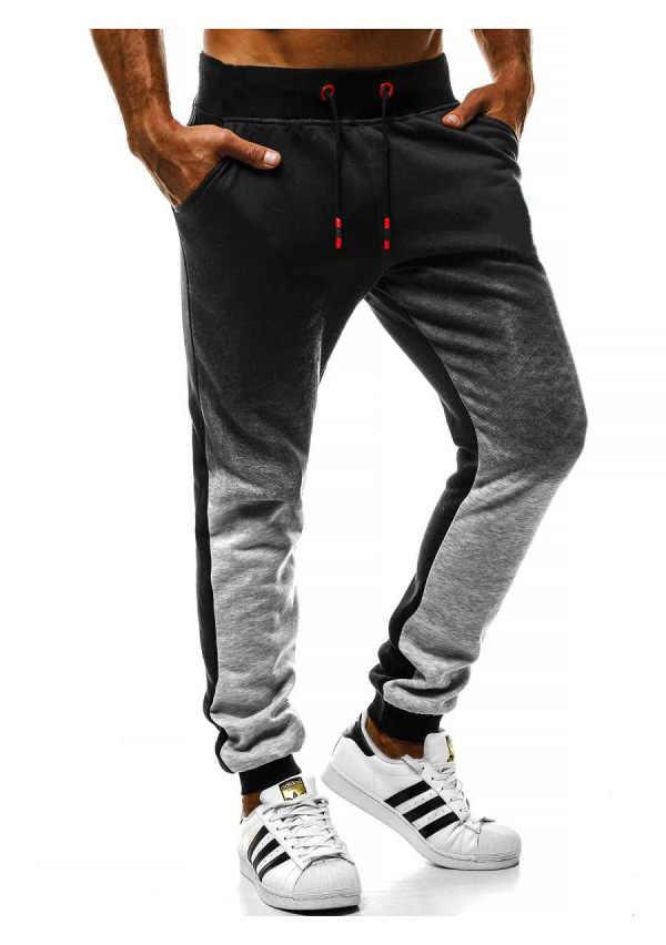 2020 조깅 바지 남성 지퍼와 바지를 실행 스포츠 휘트니스 스타킹 체육관 조깅 보디 빌딩 스웨트 팬츠 그라데이션 바지 남성