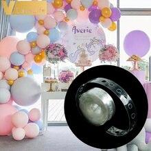 Balão de corrente 5 m acessórios whtie pvc único/buraco duplo crianças pano de fundo decoração balão globos decorações da festa de aniversário do casamento