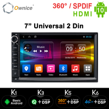 Ownice Android 10.0 Octa Core 2 Din Universeel Voor Nissan Vw Toyota Gps Navi Radio Stereo Audio Player Build in 4G Moudule