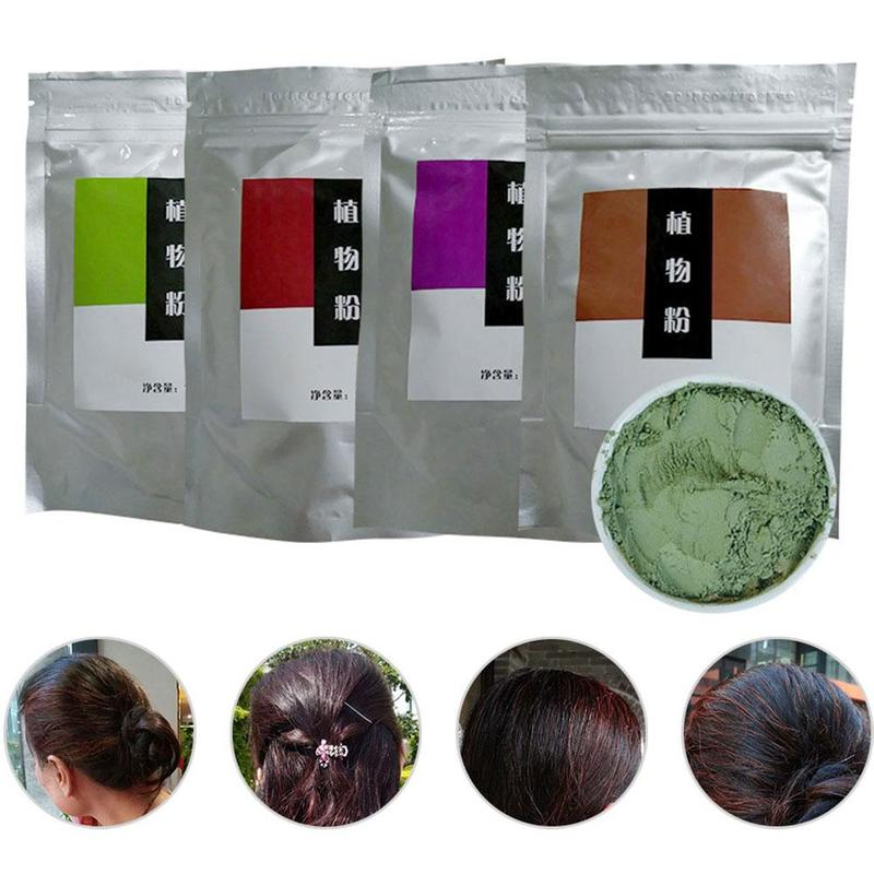 New 100g India Pure Henna Hair Dye Powder Natural Plant Extract High Pigment Color For Hair Root Up Beard Eyebrows Powder