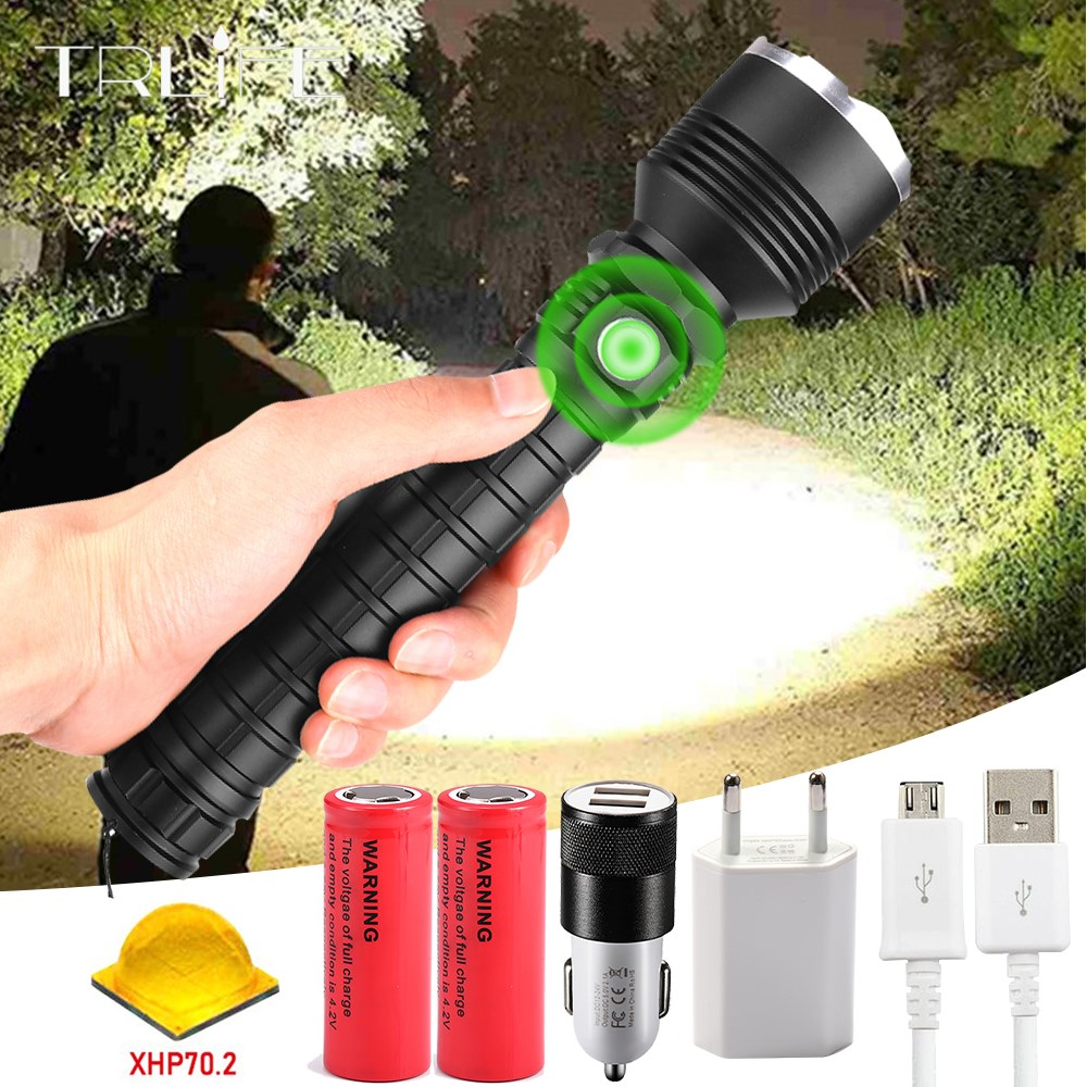 Most Powerful Led Flashlight XHP70.2  Flashlight USB Zoom Led Torch Lamp XHP70 XHP50.2 18650 Battery Best For Outdoor Activity