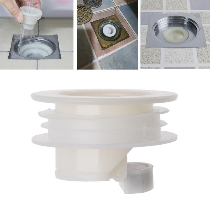 White Bathtub Plug For Bath Shower Floor Drain For Sink Strainer Bathroom Trap Sink Bathroom Water Drain Filter Anti-odor Drains