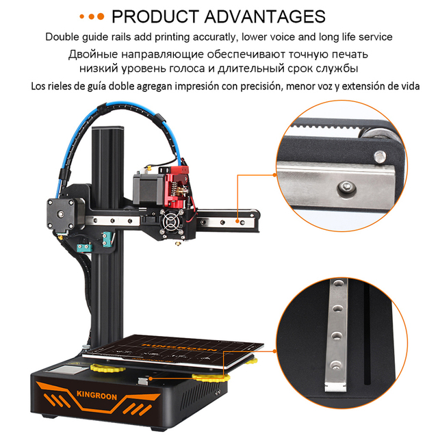 KINGROON KP3S 3D Printer High Precision Printing Upgraded DIY 3d printer Kit Touch Screen Pringting Size 180*180*180mm 4