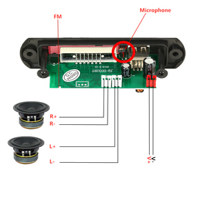 Image 3 - 2*3W MP3 Player Record Car USB Bluetooth5.0 Hands free Integrated MP3 Decoder Board Module with Remote Control USB FM Aux Radio