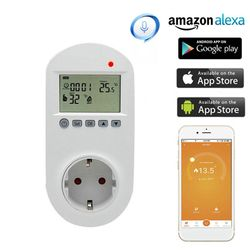 WiFi Plug-in Thermostat Socket Remote Voice Control Floor Heating Temperature Controller 16A 230V EU Plug