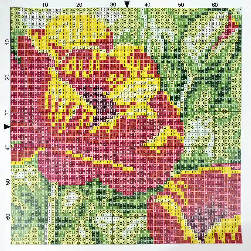 וו תפס כרית אמנון ותמר פרחי כרית מקרה מודפס צבע בד אקריליק חוט נצמד ספה כרית כרית סרוגה כיסוי ערכות