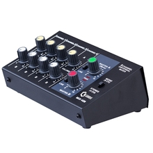 Mixing Console 8 Channel Panel Karaoke Microphone Sound Mixer Digital Adjusting Stereo Us Plug
