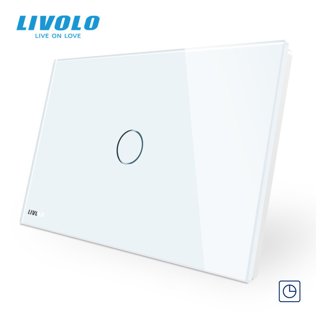 LIVOLO US standard C9 Touch timer switch,30s timer off ,touch Light Switch,Crystal Glass Panel