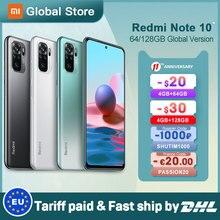 Em estoque versão global xiaomi redmi note 10 4gb 64gb/4gb 128gb/6gb 128gb smartphone snapdragon 678 33w amoled display 48mp