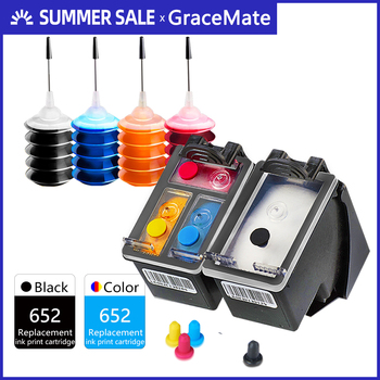 GraceMate Ink Cartridge Compatible for HP 652 for DeskJet 1115 2135 2136 2138 3635 3636 3835 4535 4675 Printers Ink Cartridges цена 2017