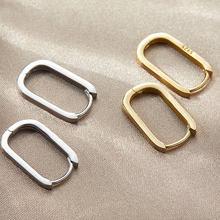 XIYANIKE 925 Sterling Silver koreański nowy modny o-kształt kwadratowy Hoop kolczyki Temperament prosty urok elegancki biżuteria akcesoria