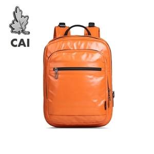 Image 1 - CAI 2019 PU Leather Female Backpack Bag for Women designer Zipper School Shoulder Bags Travel Sport back pack Girl Fashion