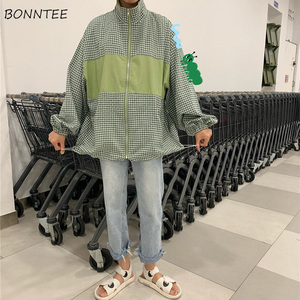 Image 5 - แจ็คเก็ตสตรีลายสก๊อต BF เกาหลี Harajuku Ulzzang สไตล์ลำลองสตรีเสื้อแจ็คเก็ตพื้นฐาน All Match คุณภาพสูงหลวมอินเทรนด์