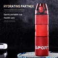 Портативная бутылка для воды 700 мл пластиковая посуда для напитков уличные спортивные школьные герметичные портативные прямые бутылки для ...