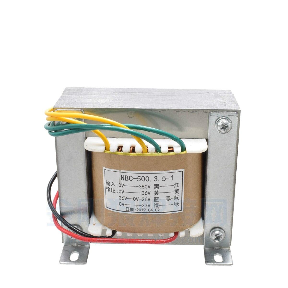 NB350 500 Gas Shielded Welding Control Transformer Output 36V 24V Dual 26V Input AC380V