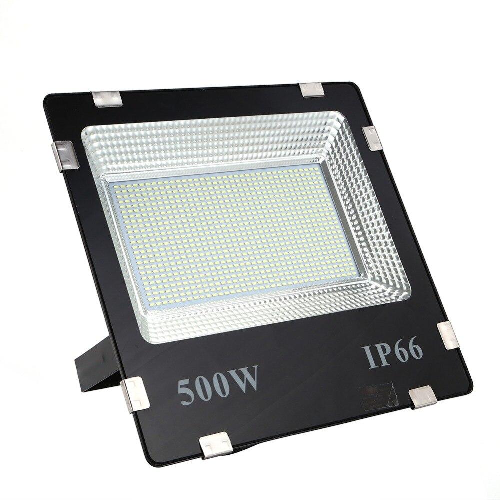 Ömür boyu garanti 500w led projektör ip65 su geçirmez açık hava led sel ışıkları günışığı beyaz AC170-245V led spot
