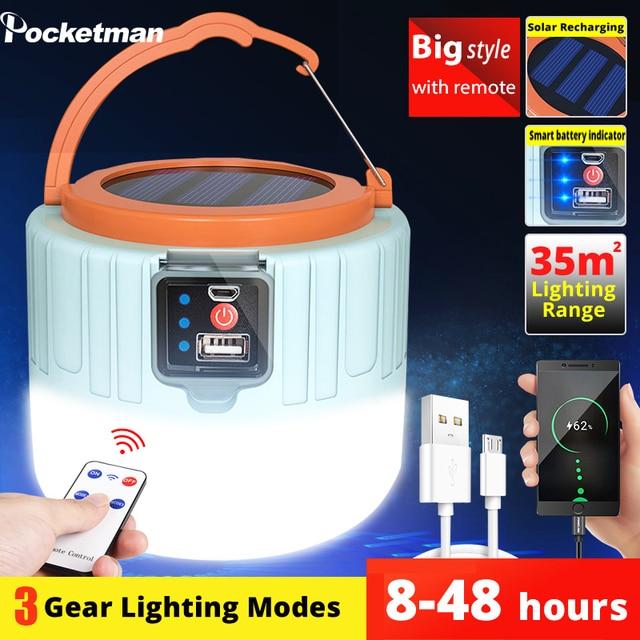 280W Portable lumière solaire Camping lanterne USB Rechargeable Camping lumière extérieure étanche durgence lumière solaire Camping lampe