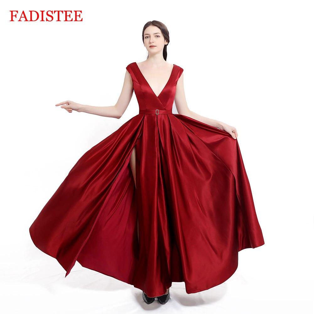 New Arrival Evening Dress Formal Vestido Noiva Sereia Prom Party Robe De Soiree Green Gown Luxury Frock V-neck Side Slit Pockets