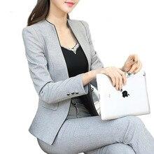 Рабочий деловой костюм с пиджаком брюки размер большой Бизнес Офис Женский костюм Femme топы и блузки любимый для беременных