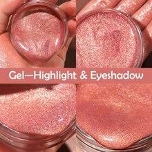 Crystal Jelly Gel Eyeshadow High Gloss Liquid Moisturizing Lasting Shine Shiny Eye Shadow Makeup Tools