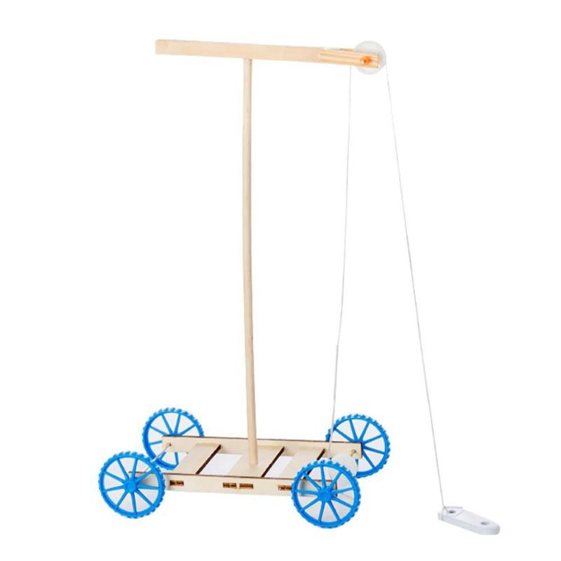 Gravity Car Model DIY Children Toy Education Science Experiment Wood Board  Arts Crafts  DIY Toys Gift For Children
