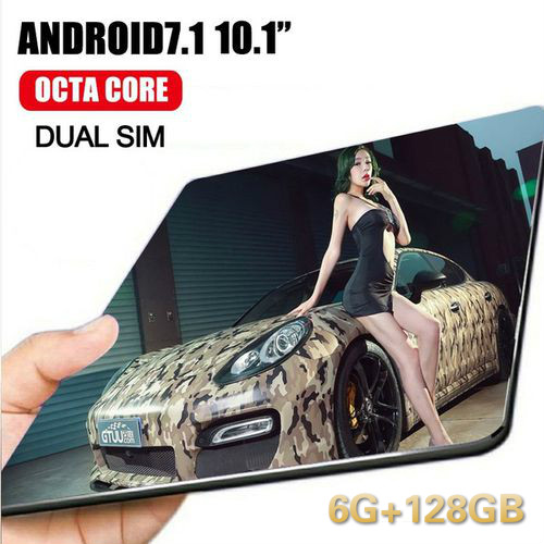 6+128GB 10 Inch Tablet PC 4G Android 8.0 Octa Core Super Tablets Ram 6GB Rom128GB WiFi GPS 10.1 Tablet IPS  Dual SIM GPS
