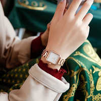 Reloj cuadrado de cuarzo para mujer de CADISEN 2020 de lujo de la mejor marca, reloj de oro rosa para mujer, reloj de pulsera impermeable a la moda para mujer