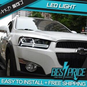 Тюнинг AKD Автомобильная фара для Chevrolet Holden Captiva 2011-2018 фары Audi Q7 Тип светодиодный DRL ходовые огни биксеноновый луч