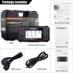 Image 5 - Foxwell herramienta de diagnóstico NT624 Elite OBD2 sistema completo, ABS SRS SAS, reinicio de aceite EPB Servic, escáner automotriz ODB2 OBD2, actualización gratuita