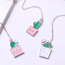 Hot Novelty Metal Stationery Chain Pendant Bookmark Clip Study Office Student Reading Book Marker Kids Gift Marker of Page