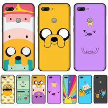 adventure time cute Beemo BMO Jake Finn Lumpy Black Cell Phone Case For Huawei Honor 7C 7A 8X 8A 9 10 10i Lite 20 NOVA 3i 3e adventure time backpack with finn and jake cn bmo backpack beemo be more cartoon robot high grade pu green