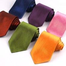 Gravata clássica unissex, 8 cm de largura, cores verde, vermelha, para casamento gravata de negócios