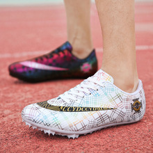 Women's Men's Track and Field Shoes Nail Running Shoes Racing Sprint Shoes Light Soft Comfortable Professional Sports Shoes