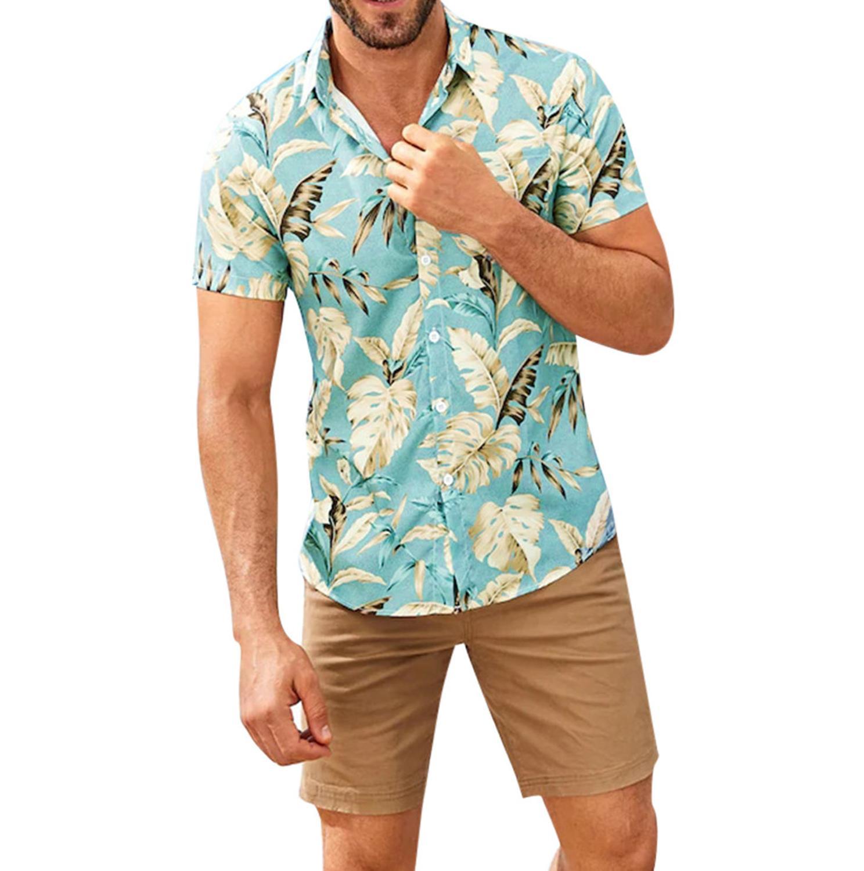 Cool Men/'s Short Sleeve Shirt Beach T-shirt Holiday Summer Hawaiian Casual Tops