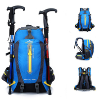 40L Waterproof Climbing Hiking Backpack Rain Cover Bag Camping Mountaineering Backpack Outdoor Bike Bag Men Women Trekking Bags