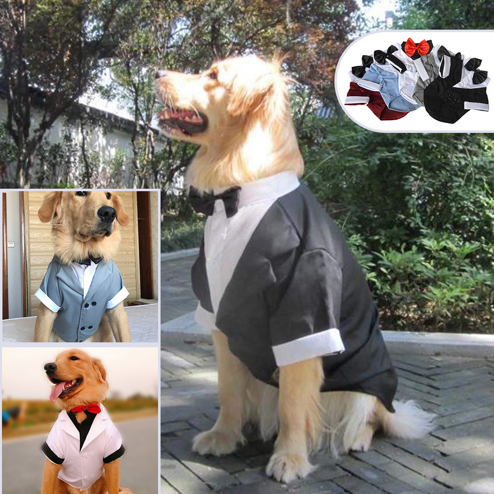 New Big Dog Dress Dog Coat Beautiful Clothes Dog Supplies Dog Suit Bow Tie Dog Winter Coat Dog Outfit Dog Clothes for Small Dogs