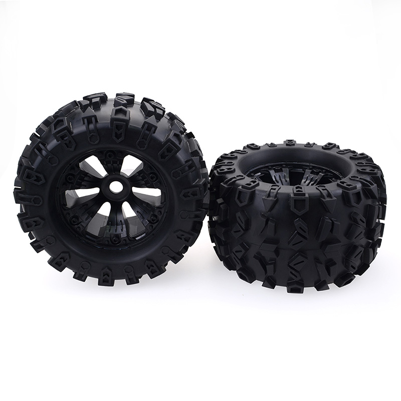 17mm HEX WHEEL & 170mm Wheels Tires for Redcat Rovan HPI Savage XL MOUNTED GT FLUX HSP ZD Racing 1/8 Monster Truck