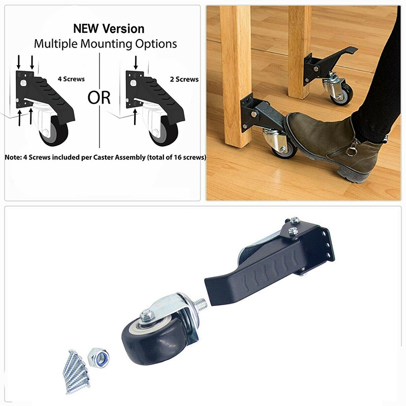 Worktable Robust Caster Swivel Stepdown Steering Wheel Stable Durable For Heavy Duty Use 2019ing