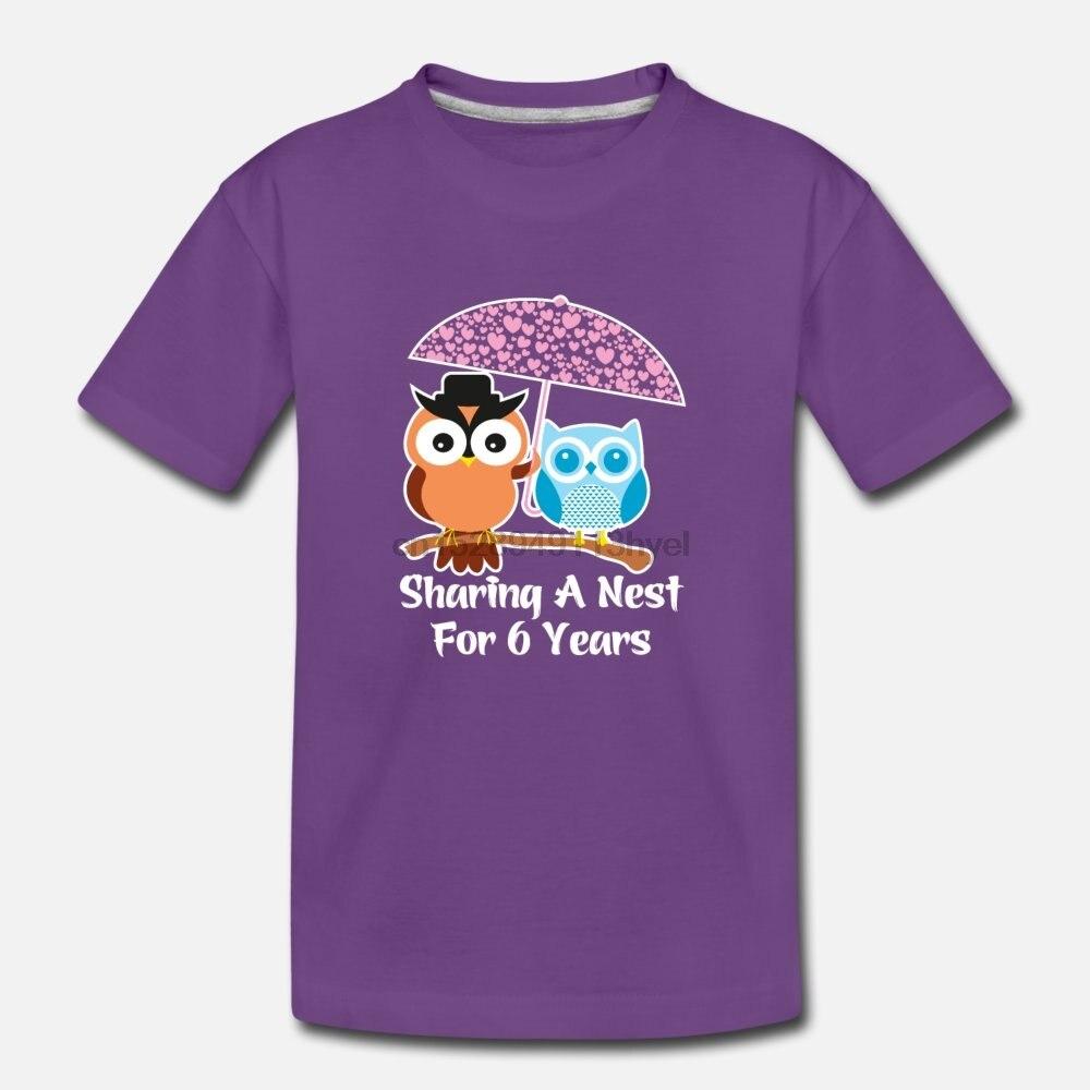 Men t shirt 6 Years Wedding Anniversary Gifts Valentine Day tshirts Women t shirt