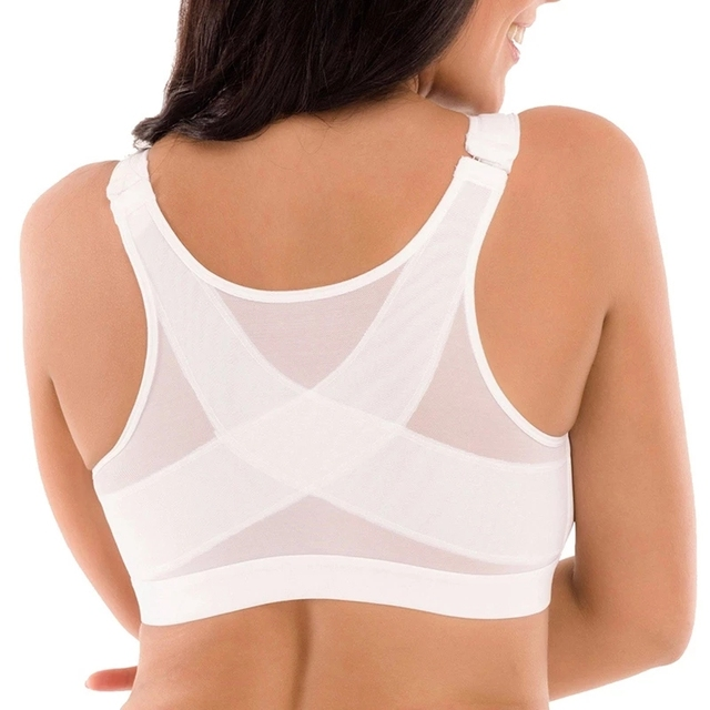 S-5XL Posture Corrector Lift Up Bra Women Shockproof Sports Cross Back Bras Support Fitness Breathable Vest Underwear 5